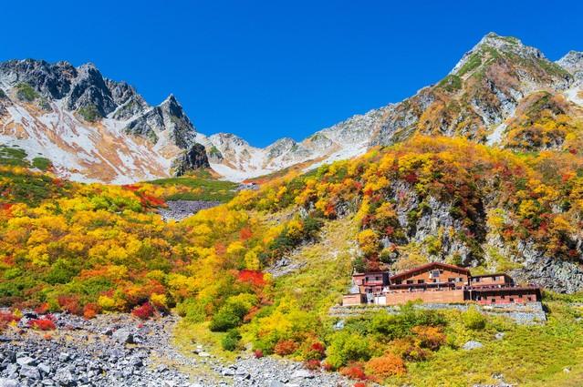 槍ヶ岳の紅葉