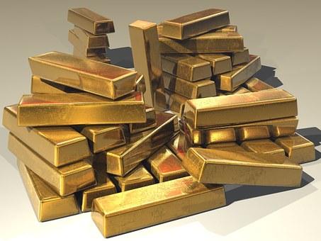 積み上げられた金塊
